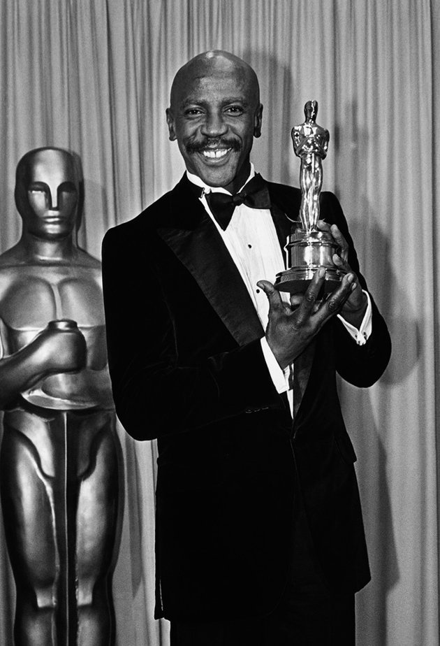 "Louis Gossett Jr., Oscar winner (Best Supporting Actor) for ""An Officer and a Gentleman."""