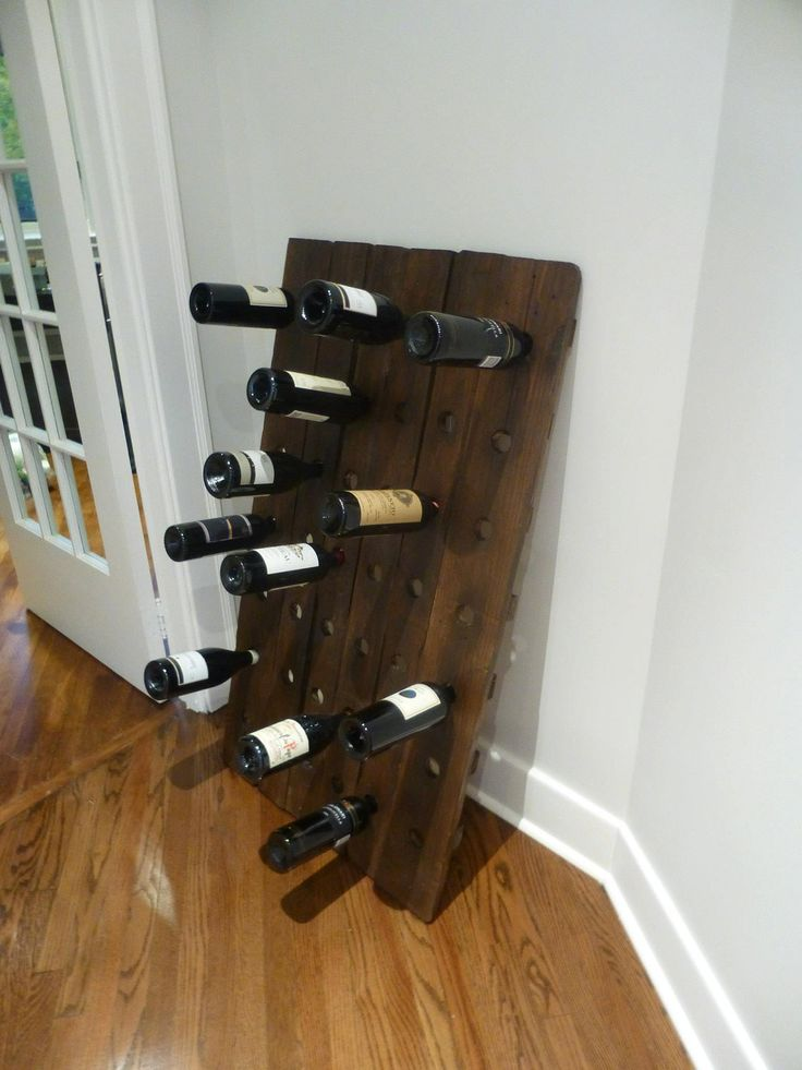 Reclaimed Pallet Wood Wine Bottle Holder. $175.00, via ...