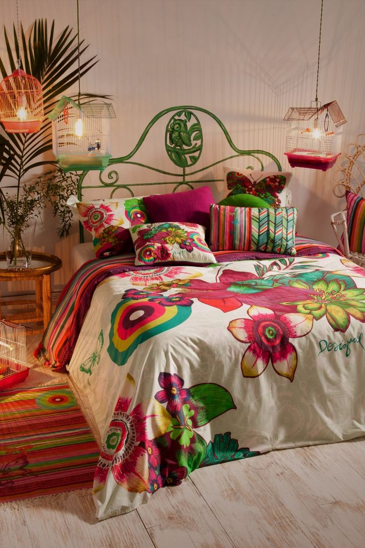 LuxPad MODE || Fresh Floral Style For The Home  Bold blooms are the order of the day || Image courtesy of Desigual