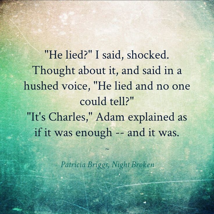 From Night Broken by Patricia Briggs book 8 Mercy Thompson series