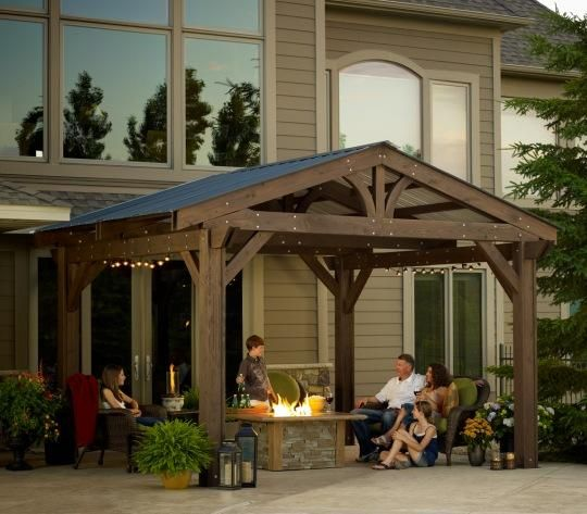 Love this idea!!!  Perhaps soon?!  -- Pergola with a fiberglass roof