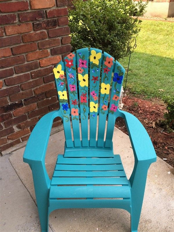 Diy Painting Outdoor Adirondack Chair Ideas Painted Outdoor