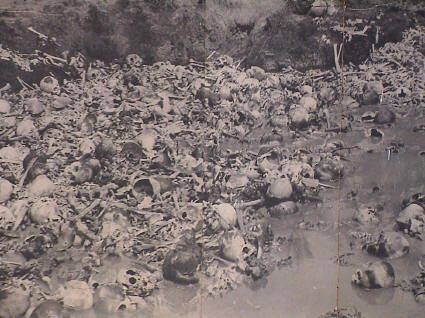 The Killing Fields Under the  Khmer Rouge Regime 1975-1979.