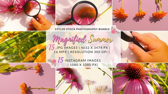 Floral Bundle Styled Photo Shoot Blog Background Instagram