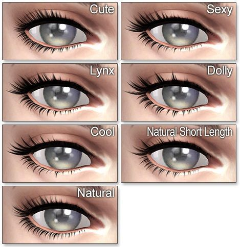 The Sims 4 | Kijiko 3D Eyelashes v2 | CAS accessory for female & male adult…