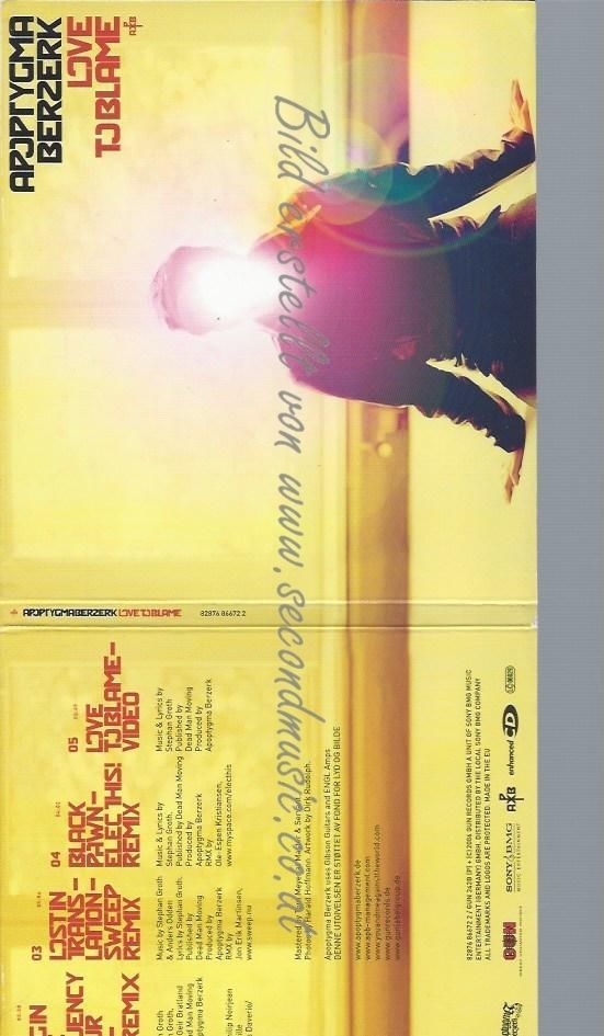 CD--REMIUM | SINGLE/ APOPTYGMA BERZERK--LOVE TO BLAME