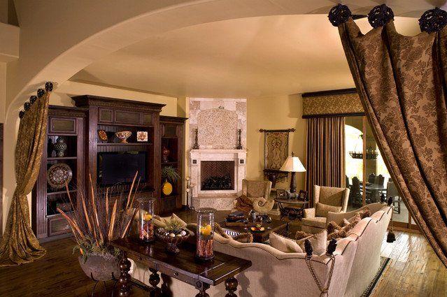 rustic-family-room-rustic-window-treatments-european-custom-draperies-wood-flooring-curtain-hardware.jpg (639×425)