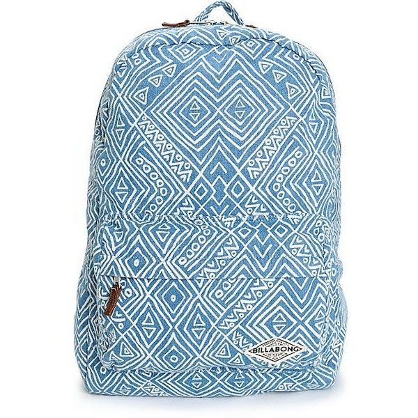 Billabong Hand Over Love Tribal Denim Backpack ($45) ❤ liked on Polyvore featuring bags, backpacks, tribal bag, backpacks bags, tribal rucksack, billabong bag and blue denim backpack