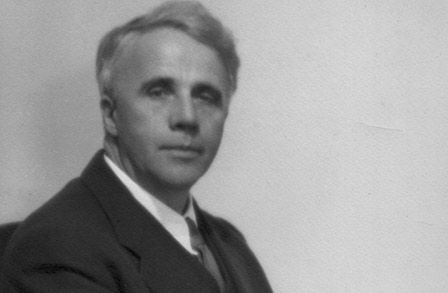 "Robert Frost. Poetry, he said, ""begins as a lump in the throat, a sense of wrong, a homesickness, a loneliness."""