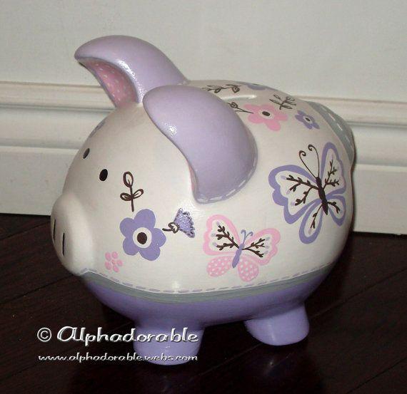 69 best custom hand painted piggy banks images on pinterest hand painted ceramics hand - Nautical piggy banks ...