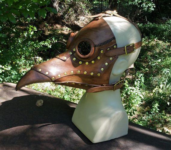 De Lorme Steampunk Plague Doctor mask prototype. Ready to ship!