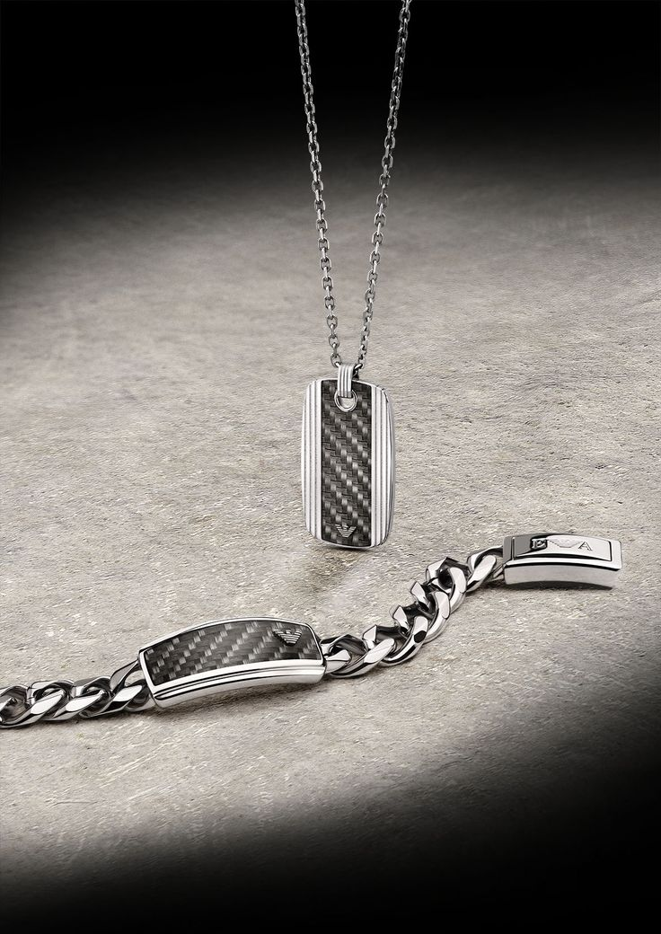 Steel the Look. The new Emporio Armani men's jewelry collection for Spring-Summer 2013.