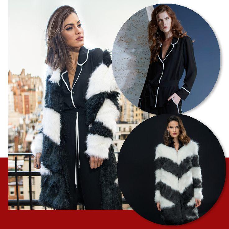 Mood P&B! Casaco P&B Alto InvernoRS17. Escolha incrível da ⭐️ @camilacoelho para nosso shooting day em NY. Inspiração para os dias mais frios! ❤️❄️    Casaco:: 1171243  Camisa:: 1171176    #reginasalomao #shootingday #inverno17 #camilacoelho #altoinverno #nyc #fashiontrends #lancamento #beyourself #soul #newcollection