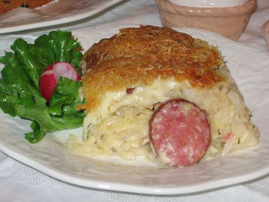 Smigus-Dyngus Casserole is a great way to use up Easter leftovers. - (c) 2008 Barbara Rolek licensed to About.com, Inc.