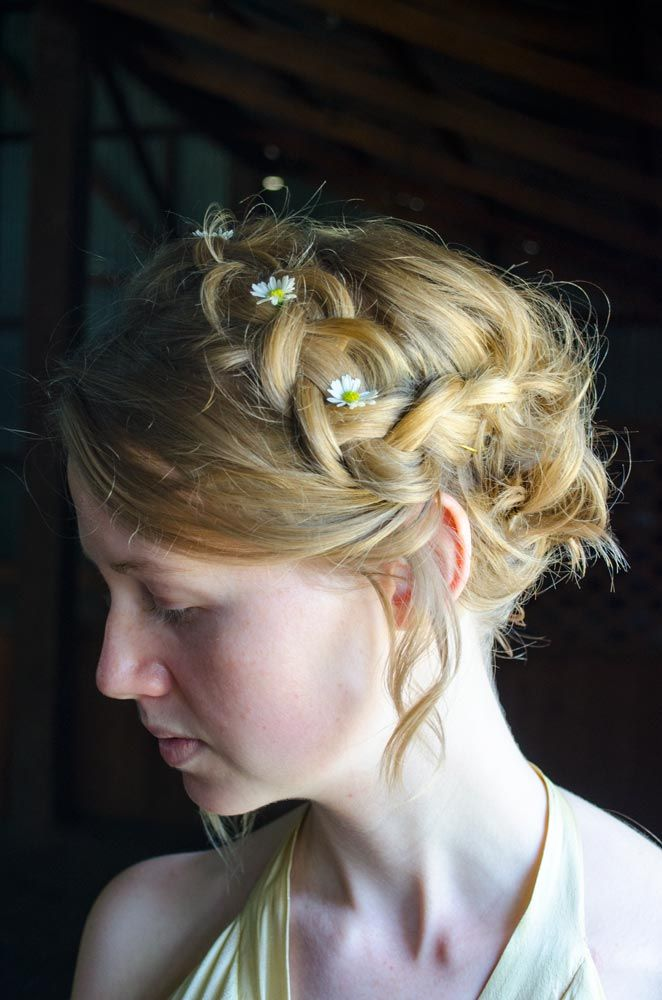 Dutch Braid Up Do - Editorial / Fashion / Wedding / Bridal hair styles