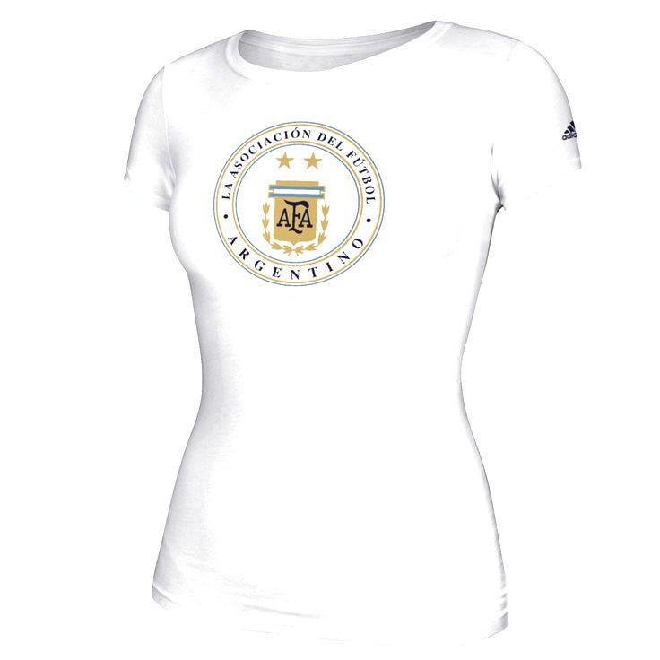 Argentina National Team adidas Women's 2016 Copa America Global Ball T-Shirt - White - $22.39