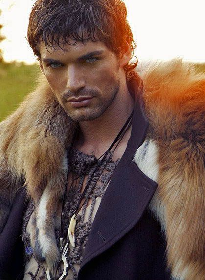 Matthias Streitwieser.... smolderingly beautiful....and framed by fur....irresistible.
