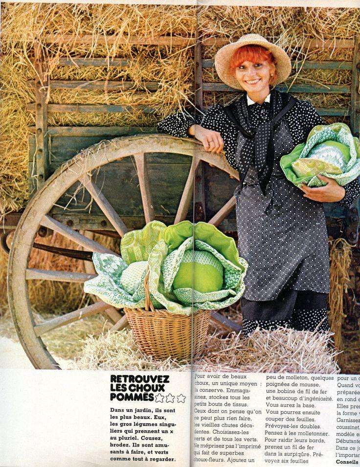 100 idées n° 29 - mars 1976 - Choux en patchwork ! - Réalisation caroline Lebeau - Ouvrage Béatrice salmon - Photo Jean-Pierre Godeaut