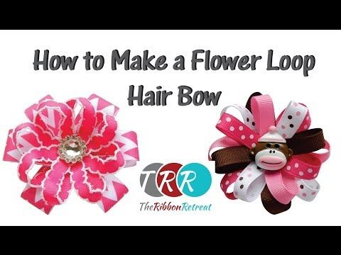 How to Make a Flower Loop Hair Bow - TheRibbonRetreat.com (link to pdf on page)