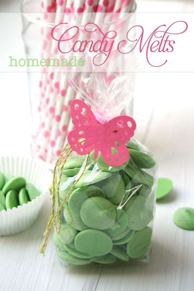 How to make your own Candy Melts from www.andcute.com