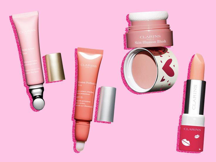 Tratamientos de ojos, blush y bálsamo labial hidratante Clarins