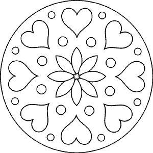 Mandala - Herz und Blume