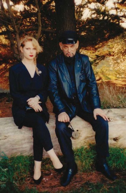 Zeena Schreck with her father, Anton la Vey,  1990.