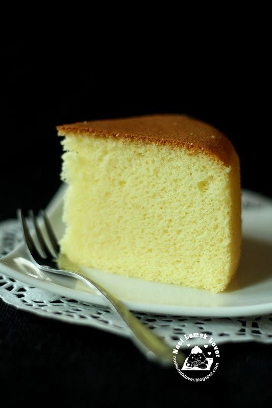 Nasi Lemak Lover: Golden Sponge Cake--This method cooks the butter and mixes in flour first to keep gluten from developing and making the cake tough--worth a try!