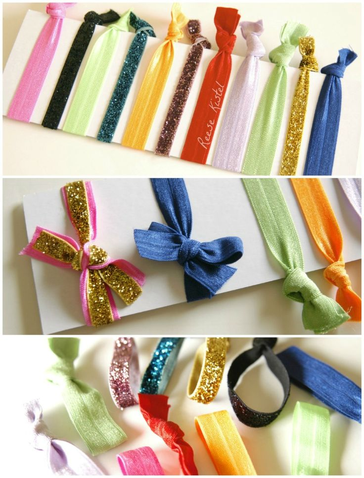 DIY hair ties: Hair Bands, Emi Jay, Diyhair, Diy Hair, Elastic Hair Ties, Color, Hair Ribbons, Diy Elastic, Be Awesome