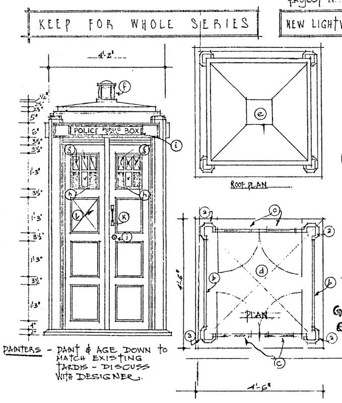 Bbc blueprints tardis expolding box blueprints for What size paper are blueprints printed on