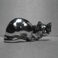 Aluminium Cat sculpture