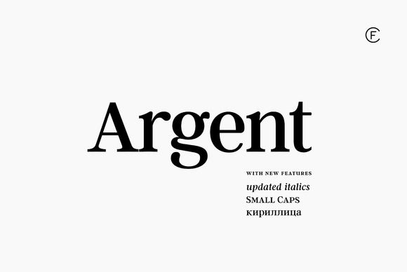 Argent CF Expressive Serif Font by Connary Fagen Type Design on @creativemarket