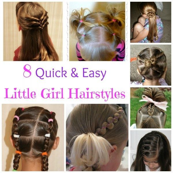 Quick And Easy Hair Styles For Litter Girls School Hair Morning Time Rush Quickhairstylesforwor Easy Little Girl Hairstyles Little Girl Hairstyles Hair Styles