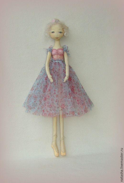 Купить Новенькие балерины для утончённых натур. - балерина, балет, кукла балерина, голубой, кукла в подарок