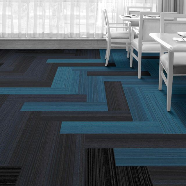 Interface Floor Design | Walk The Plank: Hawthorn, Walk The Plank: Spruce, Walk The Plank: Ironwood, Walk The Plank: Juniper | Find inspiration for your next interior design project with floors composed of modular carpet tiles from Interface
