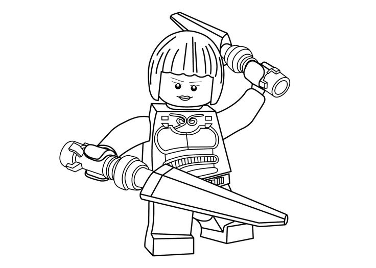 Princesse Nya coloring page for