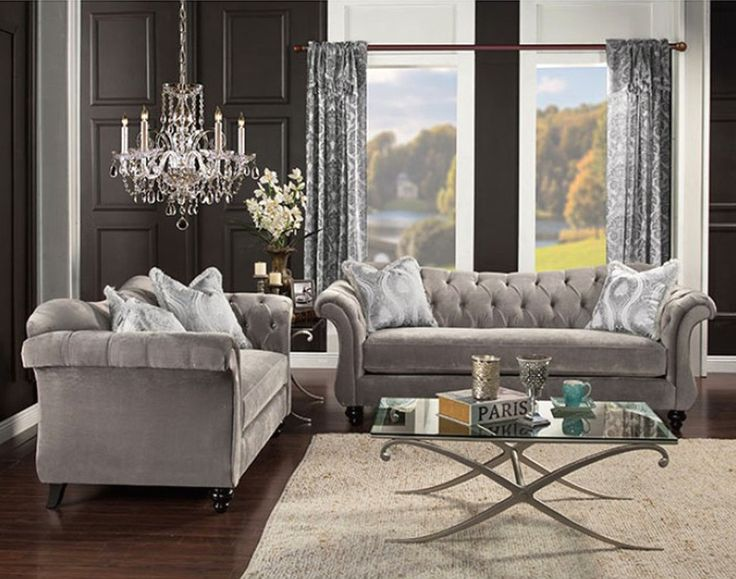 living room sofa set designs. 2 pc Antoinette collection dolphin gray premium fabric upholstered crystal  button tufted back design Sofa and Love seat set Best 25 designs ideas on Pinterest Furniture sofa