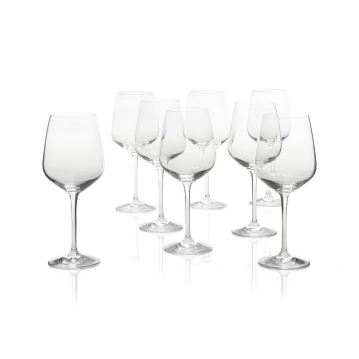 Nattie Red Wine Glasses Set of Eight  | Crate and Barrel