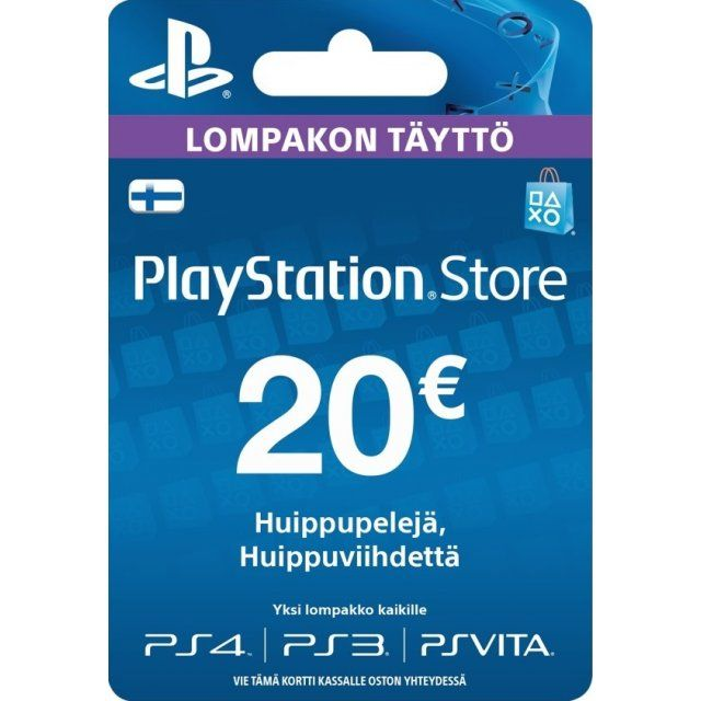Psn Card 20 Eur Playstation Network Finland Digital With Images