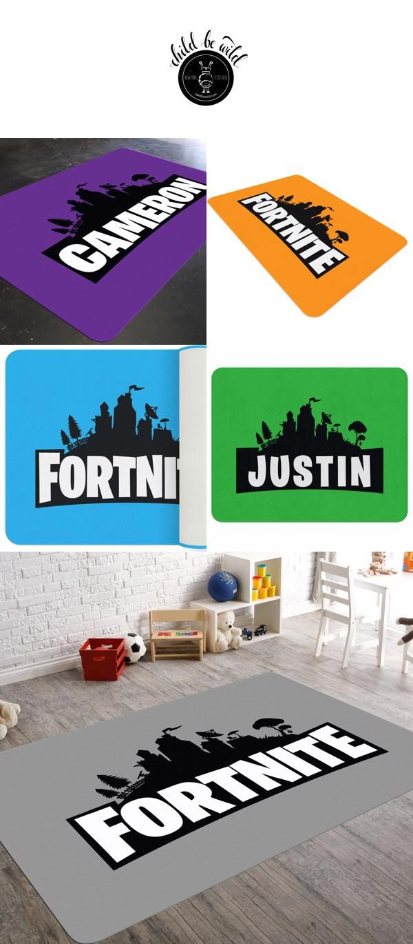 Fortnite Themed Custom Rug Kids Rooms Diy Personalized Nursery