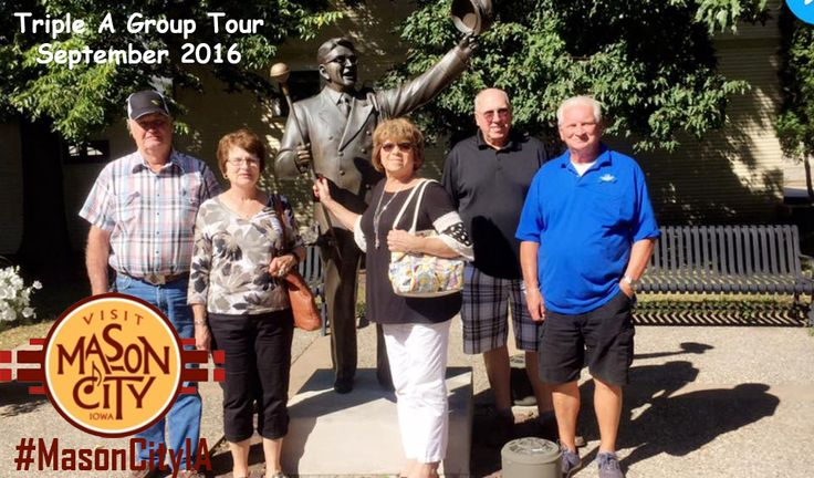 Triple A Group Tour stops at the Music Man Square! #MasonCityIA #MusicManSquare #MusicMan #MeredithWilson #Music