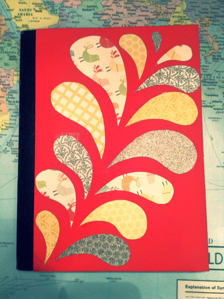 DIY notebook cover.