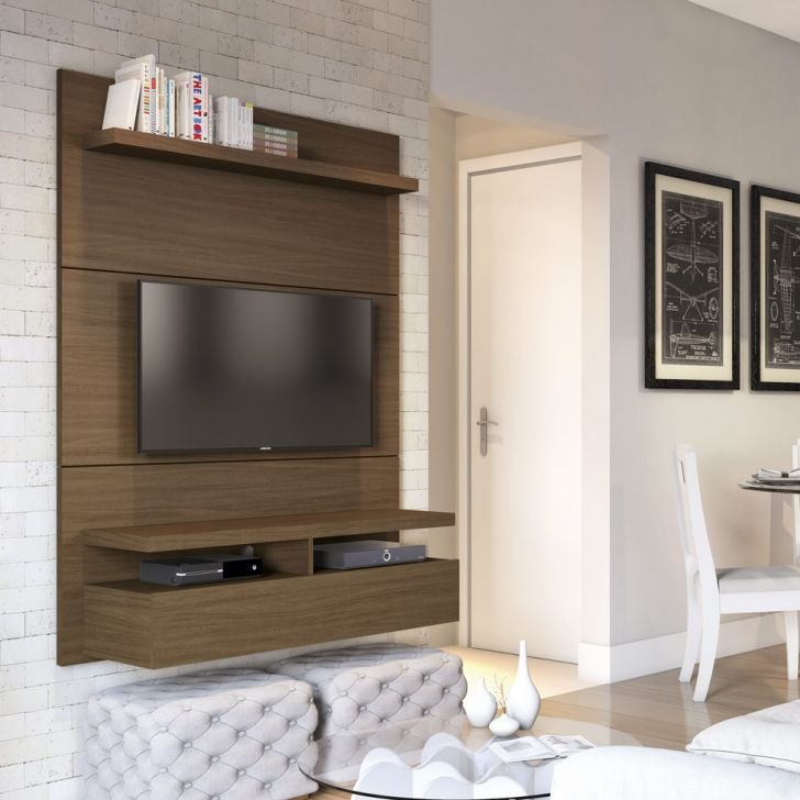 Painel para TV 40 Polegadas Zeus Castanho 120 cm