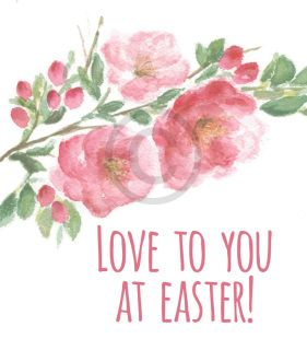 7 best easter delights images on pinterest sydney artists and love to you at easter digital sticker a sweet floral tribute image to add negle Images