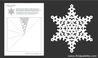 Paper snowflake template 6