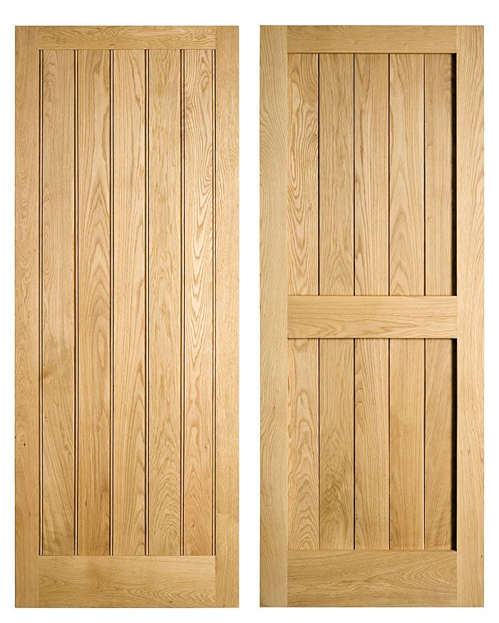 Simple oak doors - Front and back - ww.traditionaljoinery.co.uk