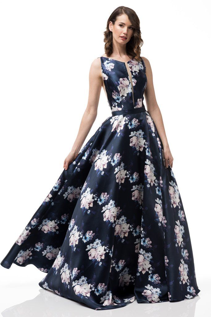 4548645b90e Navy floral dress  MZ3478 in 2019