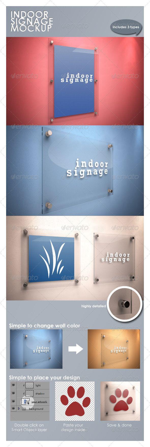 Indoor Signage Mockup - GraphicRiver Item for Sale