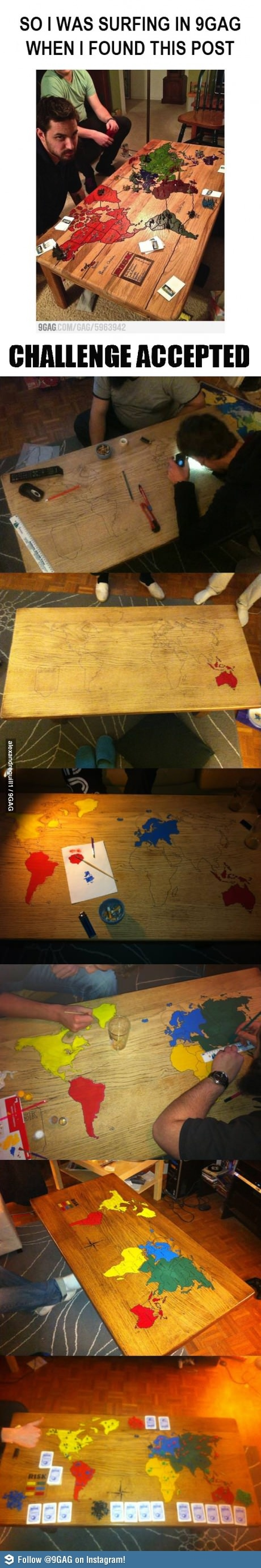 Great idea for a table, even if you don't like boardgames.