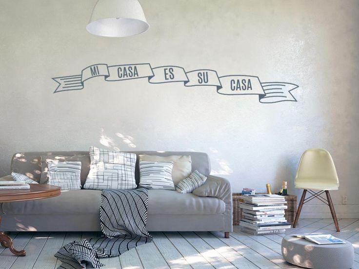 """Vinilo de pared Textos """"Mi casa es su casa"""" #vinillos #stickers #pared #home #decor #decoraciones"""